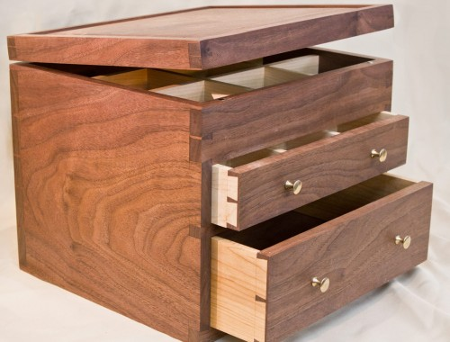 Walnut Tea Chest