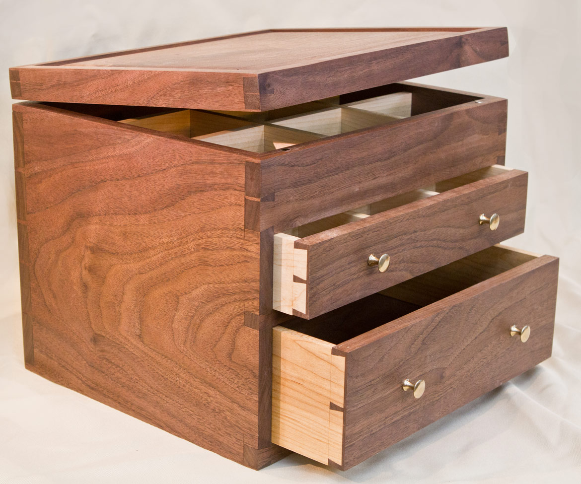 Matt Cremona Walnut Tea Chest