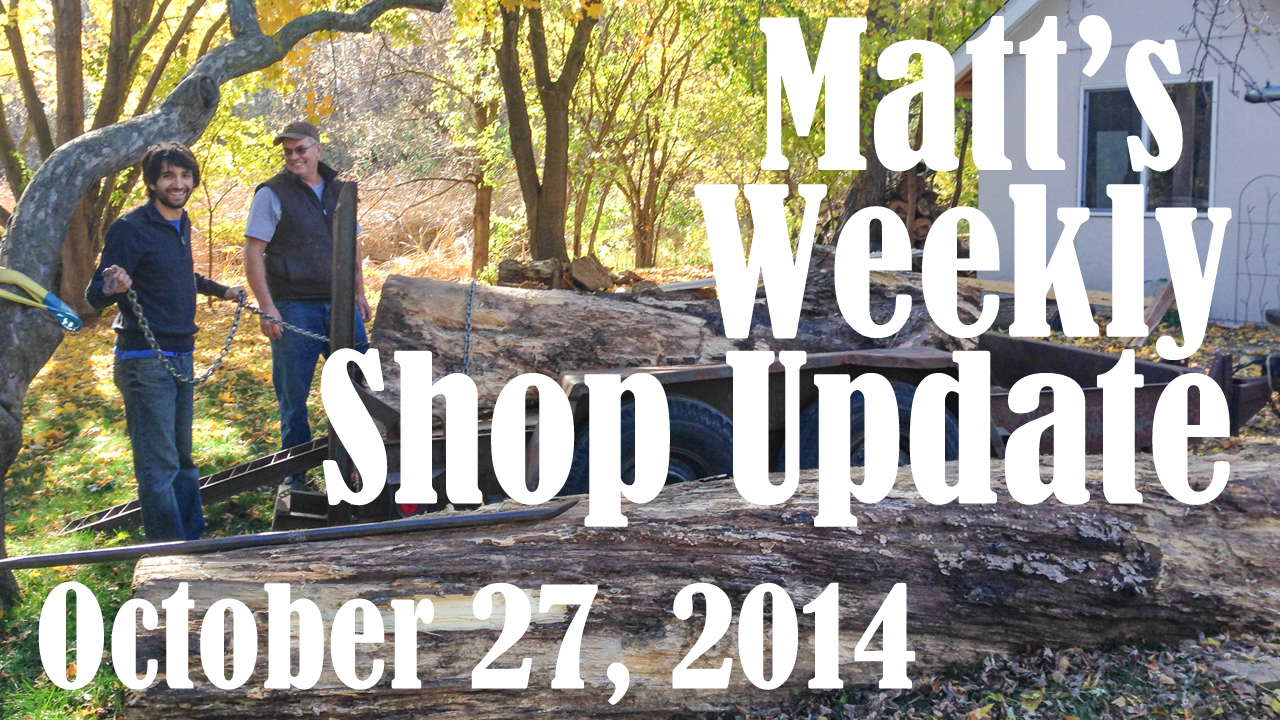 Matt's Weekly Shop Update - Oct 27 2014