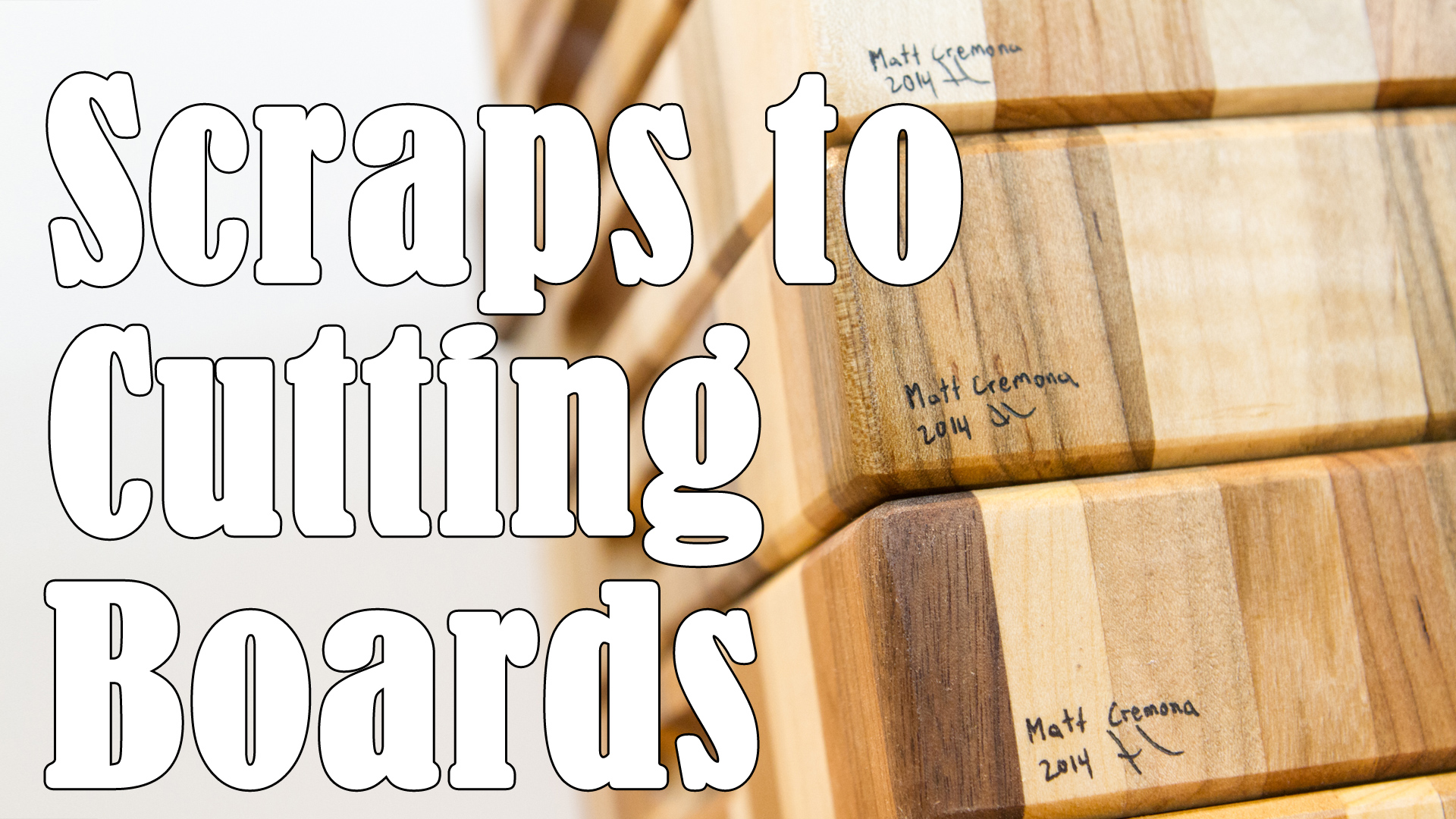 Turning Scraps Into End Grain Cutting Boards