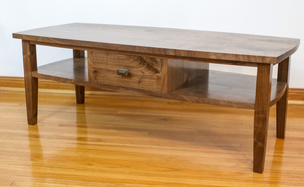 Matt Cremona Walnut Coffee Table