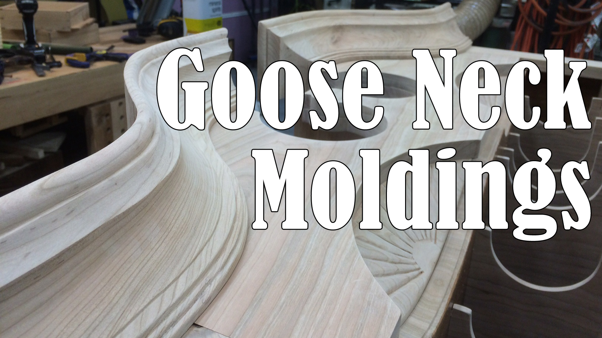 Making and Installing Goose Neck Moldings