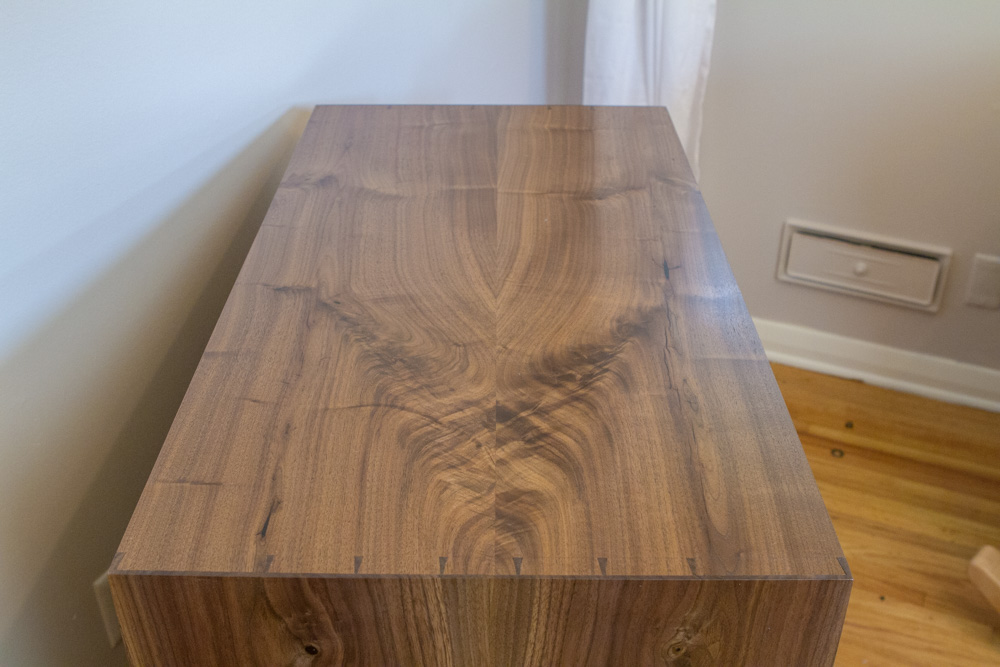 Matt Cremona Walnut Changing Table