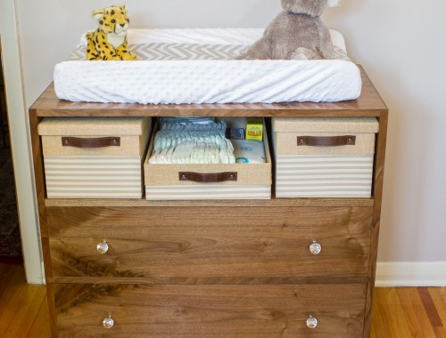 Walnut Changing Table 8