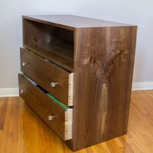 Completed Small Dresser in Walnut
