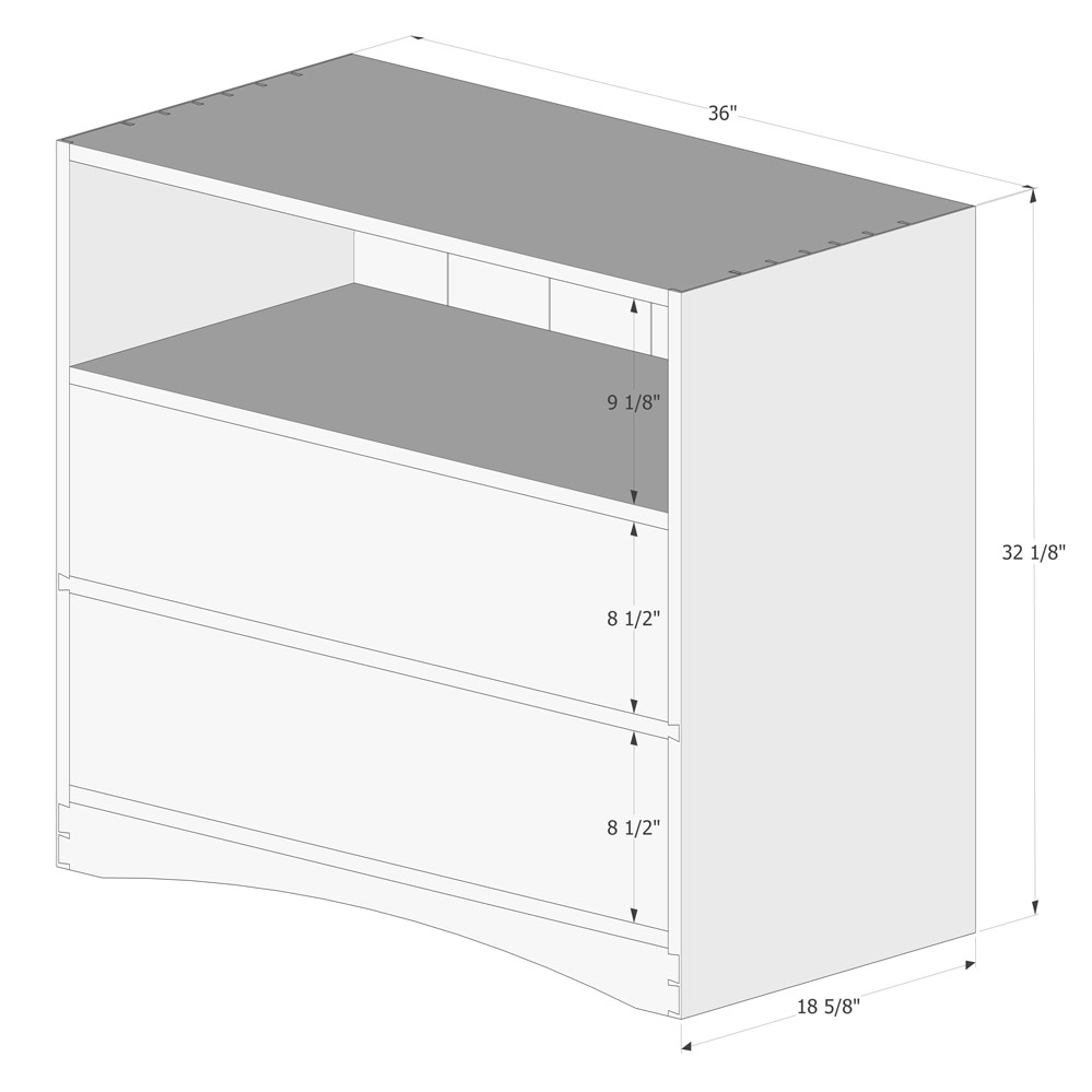 Dresser Dimensions matt cremona | small dresser plans