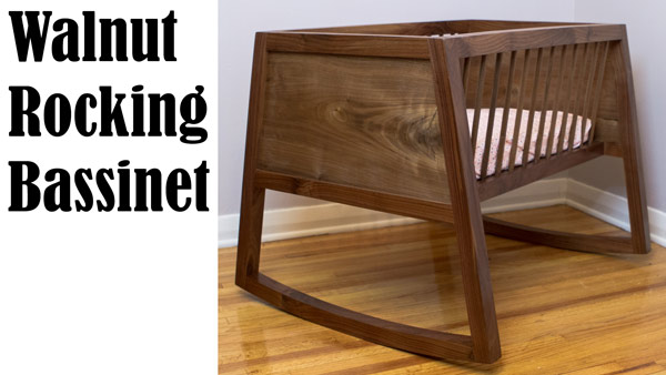 Rocking Walnut Bassinet