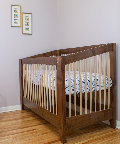 Walnut And Maple Crib Matt Cremona