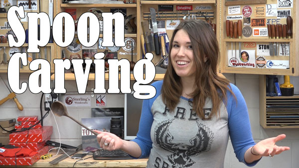 Lindsay Carves a Spoon - Get Woodworking Week 2016