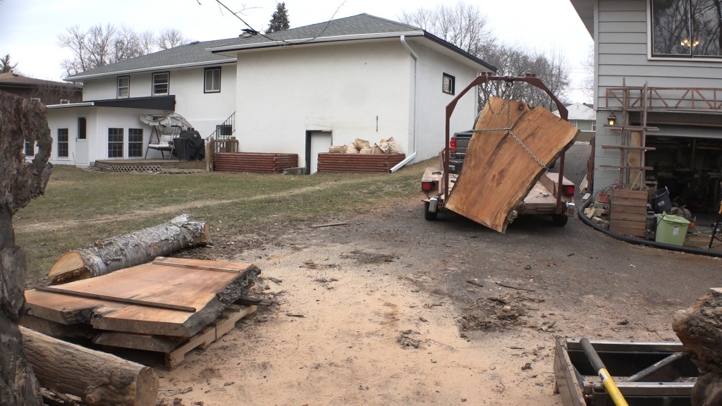 15 - moving the slabs to the pile
