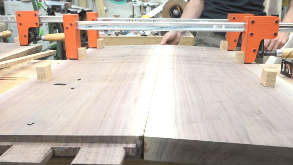 14 - footboard glue up