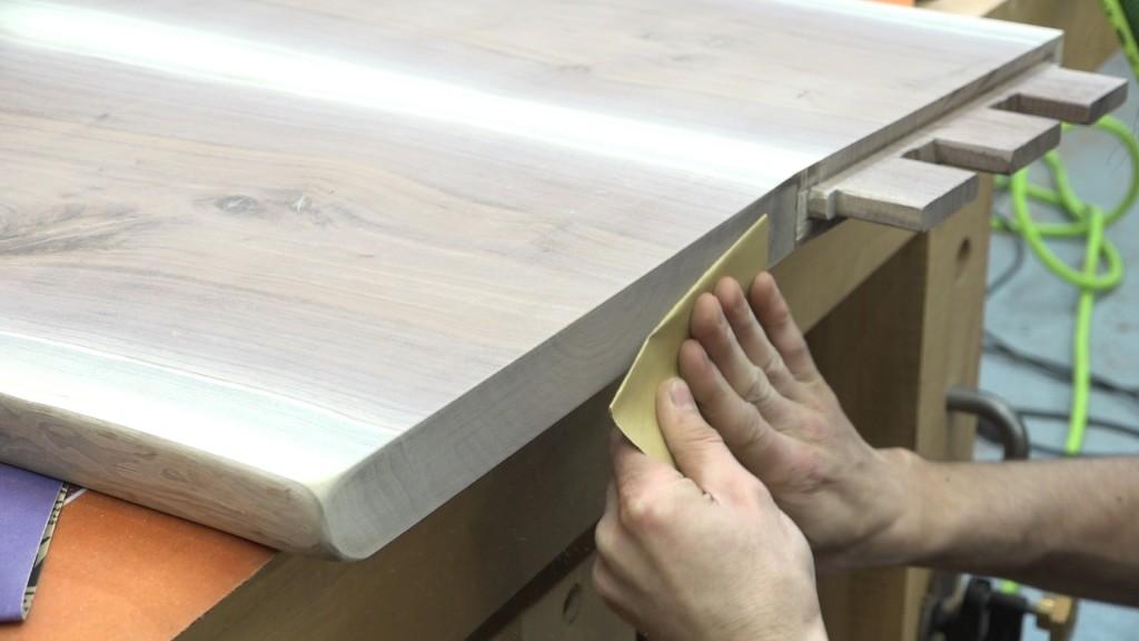 4 - sanding end grain
