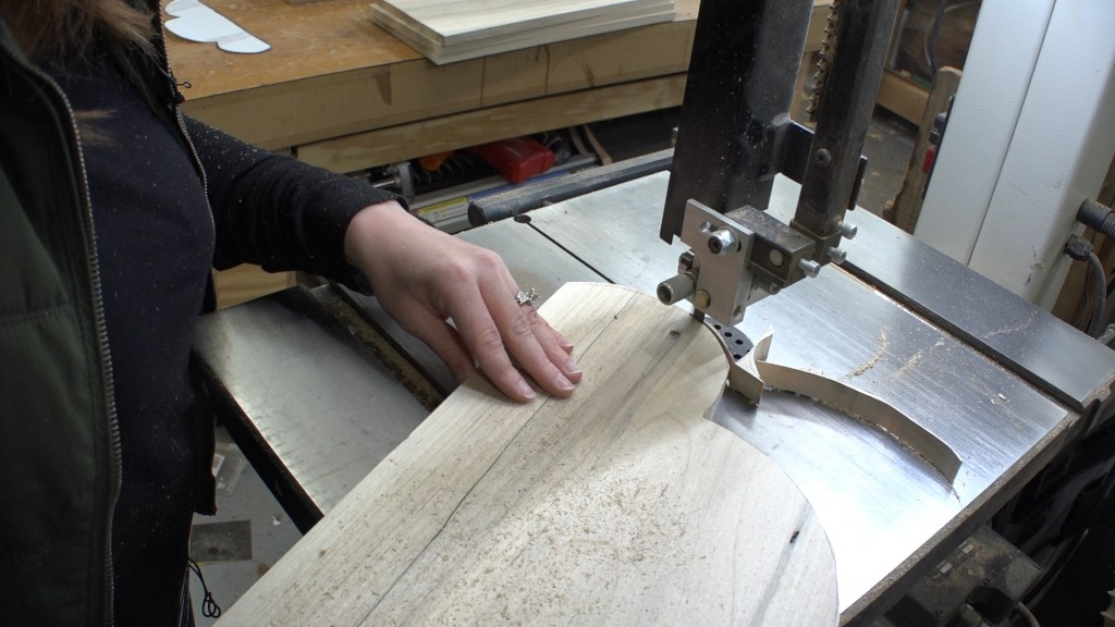 3 - cutting at the bandsaw
