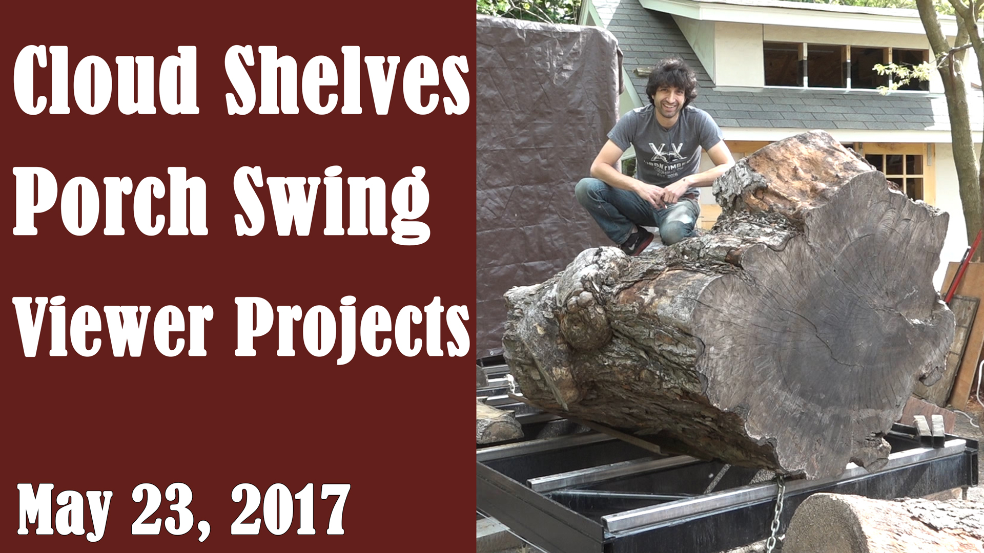 Slabbing with a Chainsaw and Bandsaw Mill – Matt Cremona